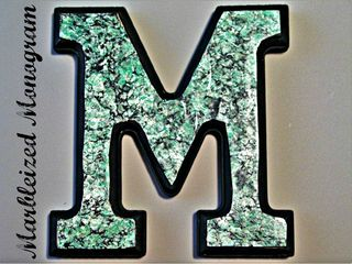 Titled Marbleized Monogram