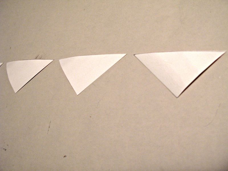 Watercolor triangles lay out