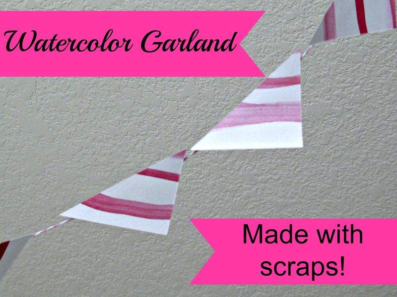 Titled Watercolor Garland Small
