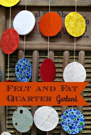 Titled Felt and Fat Quarter Garland