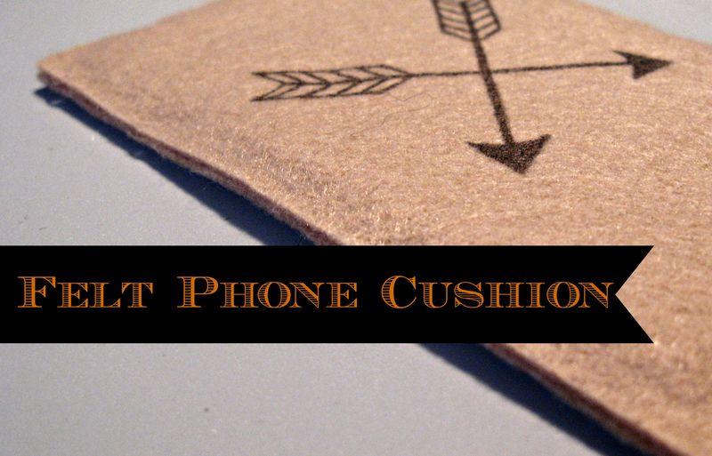 Titled Felt Phone Cushion