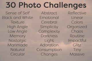 30 Photo Challenges October 2016