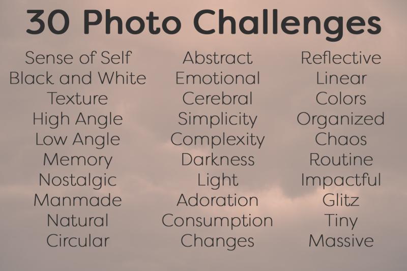 30 Photo Challenges October 2016