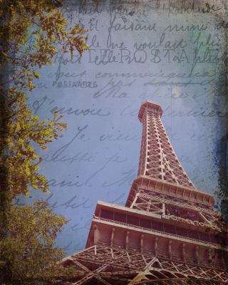 Vintage Modern Vegas Eiffel Tower
