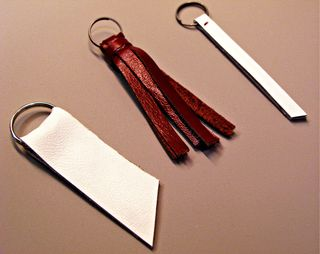 Three Leather Keychains