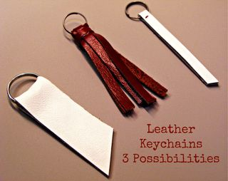 Titled 3 Leather Keychains