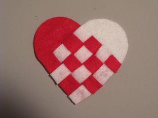 Woven Heart Trimmed
