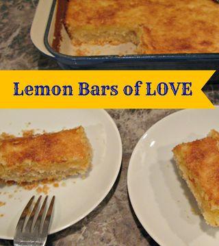 Titled Lemon Bars