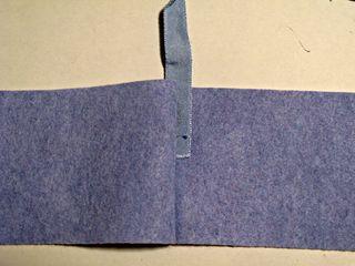 Felt Notebook 2.0 glue spine with bookmark