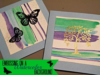 Titled Embossed Watercolor cards
