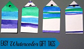 Titled Watercolor Tags