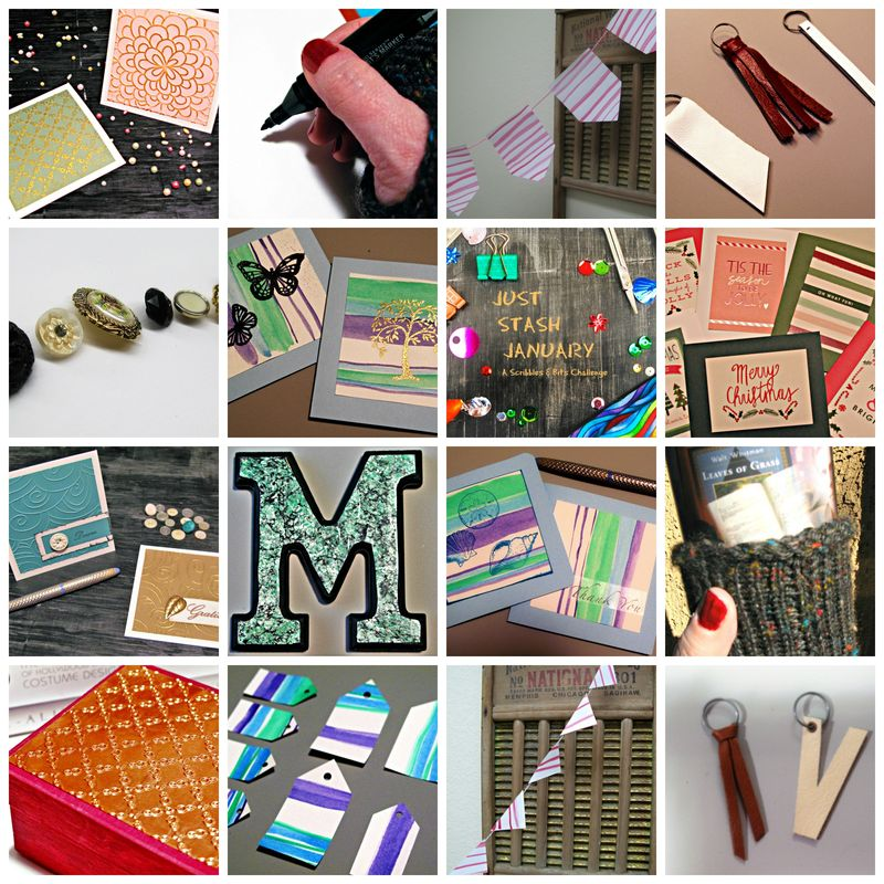 Just Stash January Collage