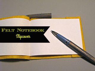 Titled Felt Book Slipcover