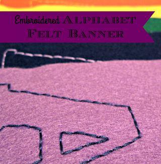Titled Felt Alphabet Banner