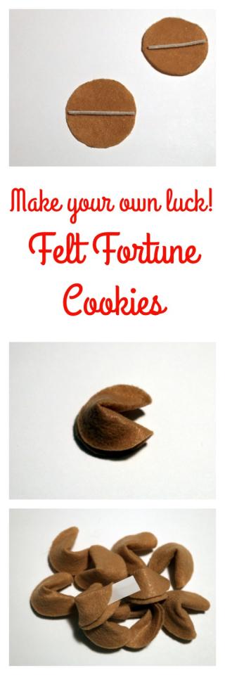 Pinterest Felt Fortune Cookies