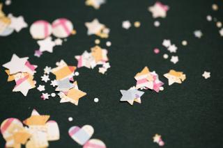 Confetti Plaid Mix Close Up