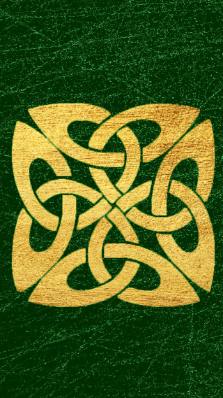 Celtic Knot gold cellphone wallpaper
