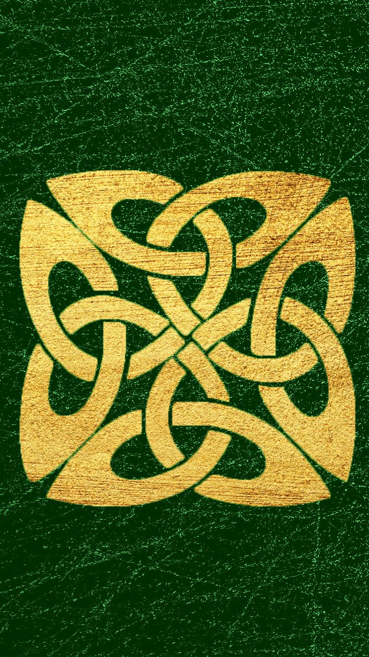 Celtic Knot gold cellphone wallpaper
