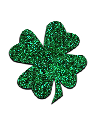 Green Glitter Shamrock resized