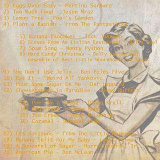 Food CD Track List