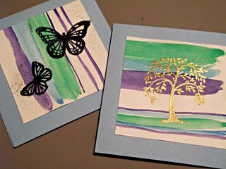 Embossed Watercolor cards