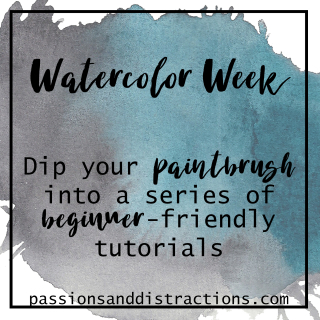Watercolor Week Title Square