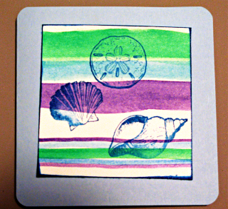 Sea shells water color cards