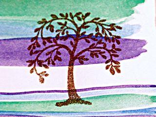 Embossed tree