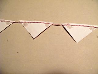 Watercolor triangles Glue method B