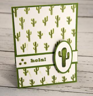 Cactus Embossed 3
