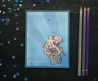 Beccy's Place Octopus 2CCC Completed Card 1