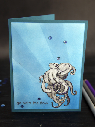 Beccy's Place Octopus 2CCC Completed Card 2